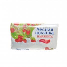 Крем-мыло ЛЕСНАЯ ПОЛЯНКА Земляника 90г