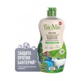 Средство для мытья посуды, овощей и фруктов BioMio Концентрат Эфирные масла Мяты,Экстракт хлопка 450мл