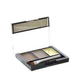 Тени для бровей TRIUMPF Eyebrow 3 Color Set набор для коррекции 2 цвета с закрепляющим воском №101 Коричневый