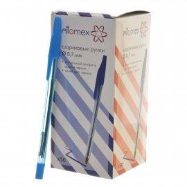 Ручка ATTOMEX Шариковая Синяя полупрозр.корп.,0.7мм