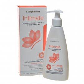 Гель для интимной гигиены COMPLIMENT с пребиотиками для чувствительной Intimate 250мл