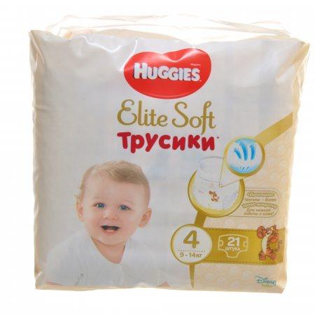 Подгузники-трусики HUGGIES Elite&Soft 9-14кг 21шт