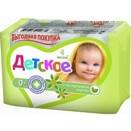 Крем-мыло ДЕТСКОЕ Натуральное С экстрактом череды (4х75г) бесплатно 20% 300г