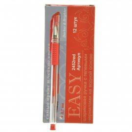 Ручка EASY Гелевая Красная Everyday 0.7мм рез.грипп.