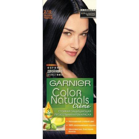Крем-краска для волос GARNIER COLOR NATURALS стойкая 2.10 Иссиня Черный