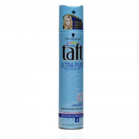 Лак для волос TAFT Ultra Сверхсильной фиксации Pure 225мл