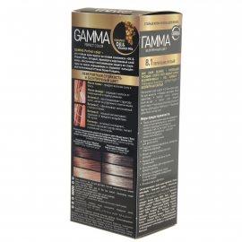 Крем-краска для волос GAMMA Perfect Color стойкая 8.1 Пепельно-русый Окисл.крем 9%