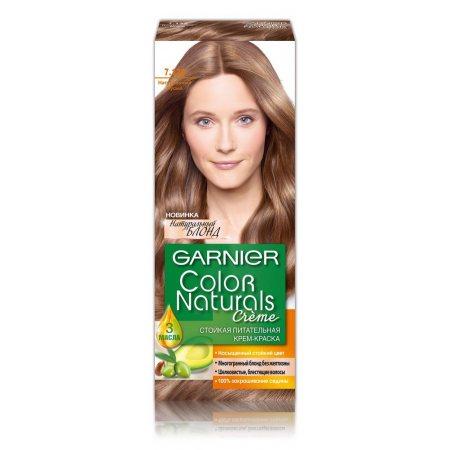 Крем-краска для волос GARNIER COLOR NATURALS стойкая 7.132 Натуральный русый питат.