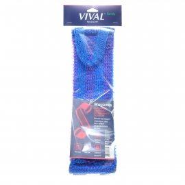 Мочалка для тела VIVAL Массажная длинная с вертикальной полосой
