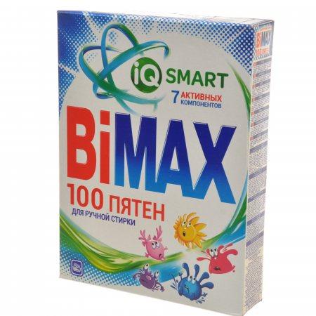 Стиральный порошок BIMAX для ручной стирки 100 ПЯТЕН IQ SMART 7 активных компонентов 400г