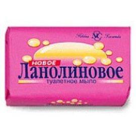 Мыло туалетное НОВОЕ ЛАНОЛИНОВОЕ 90г