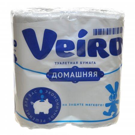 Бумага туалетная LINIA VEIRO 4 рулона двухслойная Домашняя