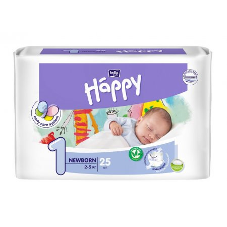 Подгузники BELLA HAPPY 2-5кг 25шт Newborn 1