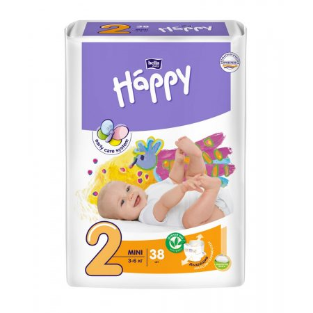 Подгузники BELLA HAPPY 3-6кг 38шт Mini 2