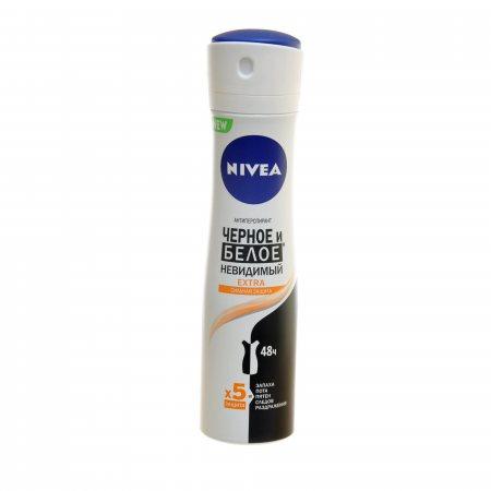 Антиперспирант NIVEA женский спрей Невидимая защита для черного и белого Extra 150мл