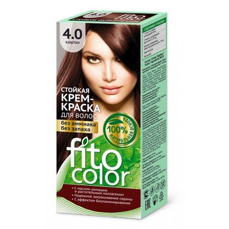 Крем-краска для волос FITOCOLOR стойкая 4.0 Каштан 115мл