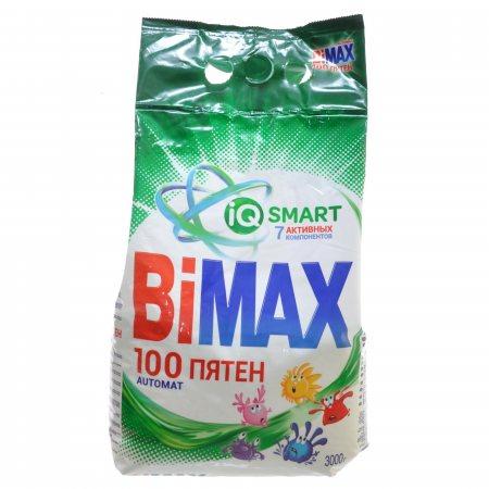 Стиральный порошок BIMAX Автомат 100 ПЯТЕН IQ SMART 7 Активных компонентов 3000г