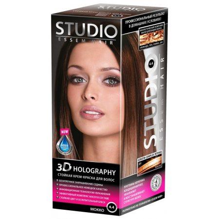Крем-краска для волос STUDIO стойкая 4.4 Мокко