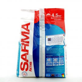 Стиральный порошок SARMA-Active для всех типов стирки для белых и цветных вещей Горная свежесть 4.50кг