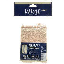 Мочалка для тела VIVAL Хлопковая BASIC прямоугол.