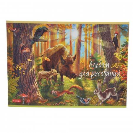 Альбом для рисования Hatber 20л А4 скрепка В сказочном лесу
