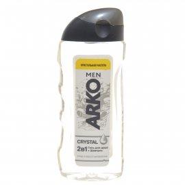 Гель для душа и шампунь ARKO 2в1 Уход и восстановление мужской CRYSTAL Кристальная чистота 260мл