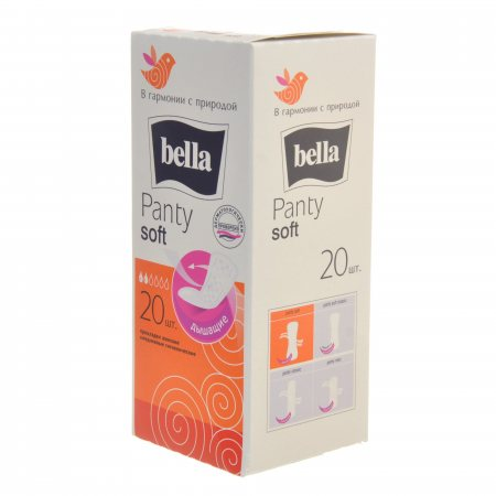 Прокладки BELLA PANTY ежедневные 20шт Soft дышащие