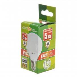 Лампа светодиодная Pled-Eco JAZZWAY Е14 5w G45 3000К теплый белый свет,шар