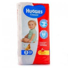 Подгузники HUGGIES Classic 11-25кг 58шт L(5)