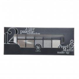 Тени TRIUMPF Pearl & Matte двенадцатицветные №01 Серебристо-синяя Eyeshadow