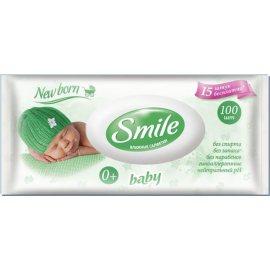 Салфетки влажные для детей SMILE Baby NEW BORN 100шт 0+, клапан бесплатно 15%
