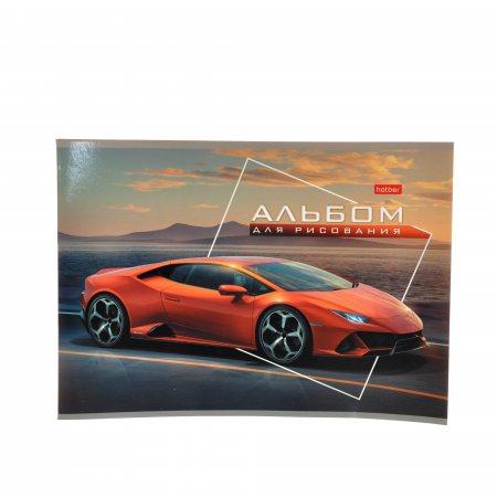 Альбом для рисования Hatber 32л А4 скрепка Автотюнинг