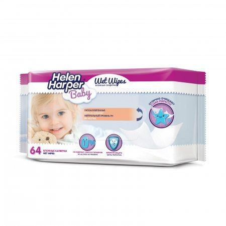 Салфетки влажные для детей HELEN HARPER Baby 64шт