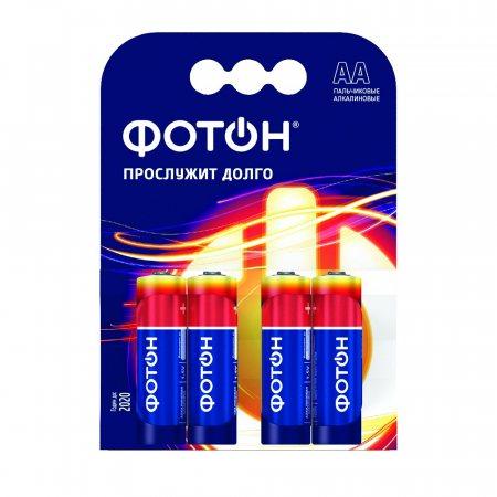 Батарейка ФОТОН Алкалиновая LR6 AA КР 4шт