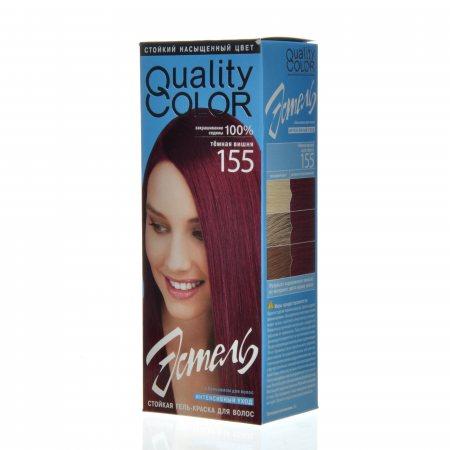 Гель-краска для волос ESTEL QUALITY Color стойкая 155 Темная вишня