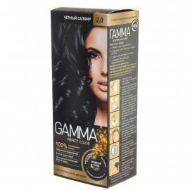 Крем-краска для волос GAMMA Perfect Color стойкая 2.0 Черный сапфир Окисл.крем 6%