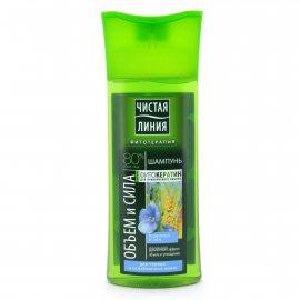 Шампунь для волос ЧИСТАЯ ЛИНИЯ Объем и сила для тонких и ослабленных Пшеница и лён 250мл