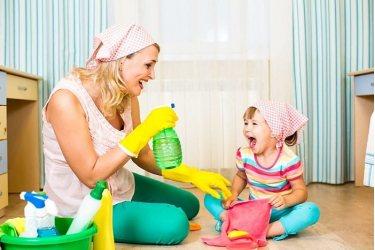 Большая осенняя уборка вместе с детьми.