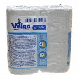Бумага туалетная LINIA VEIRO Classic 4 рулона двухслойная Белая
