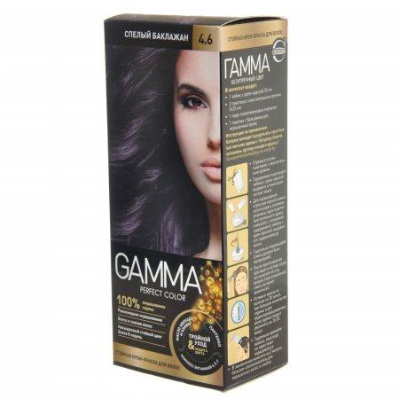Крем-краска для волос GAMMA Perfect Color стойкая 4.6 Спелый баклажан Окисл.крем 6%