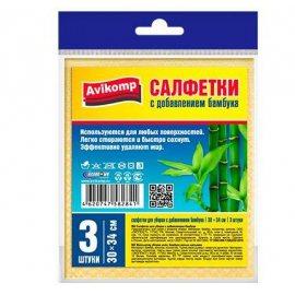 Салфетка для уборки Avikomp CLEIN SET 3шт 30х34см бамбуковая