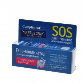 Гель-аппликатор COMPLIMENT No Problem от прыщей SOS с салиц.кислотой 25мл