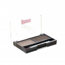 Тени для бровей TRIUMPF Eyebrow Cake набор для коррекции 2 цвета с закрепляющим воском №02 Бежево-коричневая гамма