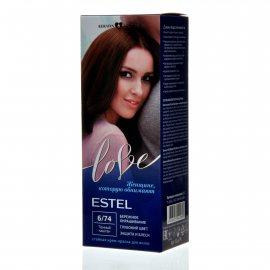 Крем-краска для волос ESTEL LOVE 6/74 Темный каштан