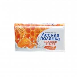 Крем-мыло ЛЕСНАЯ ПОЛЯНКА Молоко и мед Нежная забота 90г