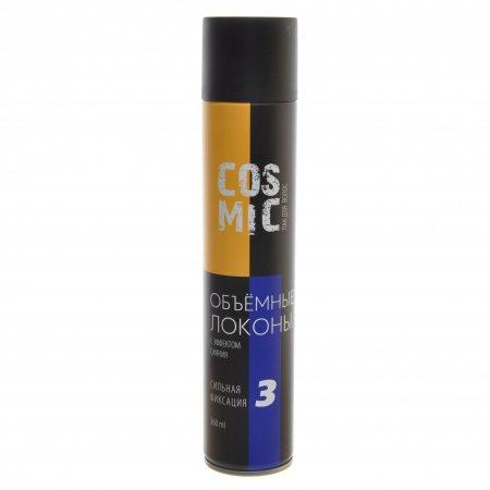 Лак для волос COSMIC Сильная фиксация 3 Объемные локоны 360мл