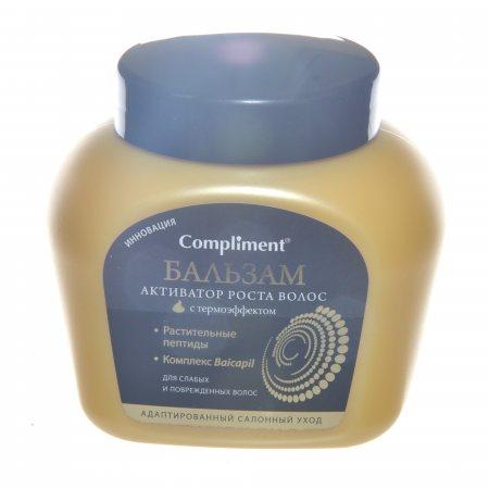 Бальзам для волос COMPLIMENT Активатор роста волос для ослабленных и поврежденных волос с термо-эффектом 500мл