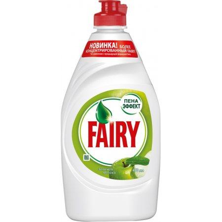 Средство для мытья посуды FAIRY Зеленое яблоко Пена Эффект 450мл