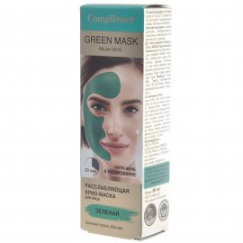 Крио-маска для лица COMPLIMENT Расслабляющая Анти-акне&Матирование Green Mask Зеленая 80мл