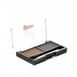 Тени для бровей TRIUMPF Eyebrow Cake набор для коррекции 2 цвета с закрепляющим воском №01 Коричневые оттенки